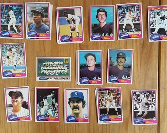 1981 Yankees Baseball Cards