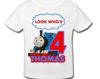 Thomas Train Birthday Shirt - Personalized Birthday T- shirtBirthday 1st, 2nd, 3rd, 4th, 5th Birthday - Fast Shipping!