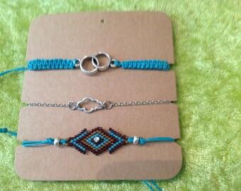 Wristband, macrame, bead work, brick stitch,