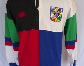 ALL BLACKS 1997 RUGBY Tour Vintage Canterbury New Zealand Polo Jersey Shirt