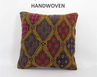 sofa pillow kilim pillow cover decorative pillow anatolian pillow throw cushion pillow kilim sofa cushion cover furniture accessory 000462