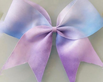 Purple and blue pastel cheer bow