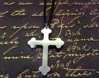 Aluminium crucifix pendant
