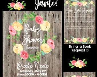 Rustic Love Baby Shower Invitation
