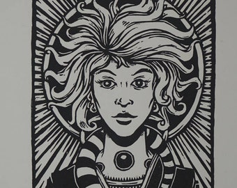 "Limited Edition Woodcut Print ""Annia"""