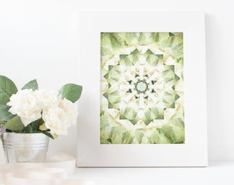spring, green, kaleidoscope, art, download printable poster A3/A4/A5