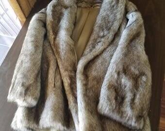 Women's Faux Mink Coat