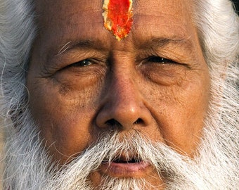 White Bearded Sadhu