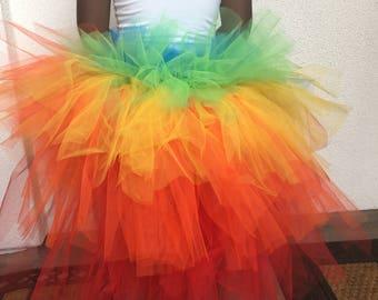 Rainbow, Multi layered Tutu, Clown tutu, costume