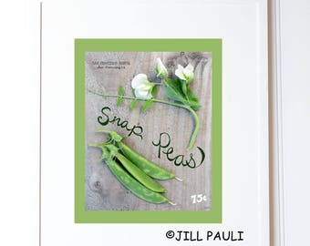 Snap Peas Seed Packet Wall Art