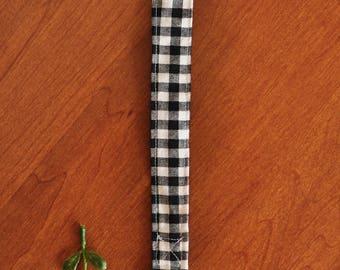 Binky Clip - Pacifier Clip - Black and White Checker Clip - Toy Clip