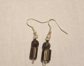 Black Champagne Drop Earrings