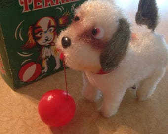 William Sealand Corp Mechanical Terrier Wind Up Toy