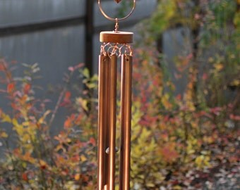 Wind Chime Colorful Glass Copper Outdoor Kaleidoscope Windchime