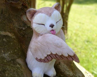 Meowl grooming - Fantasy Myxie Pal Sculpture
