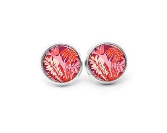 Pink Earrings, Flower Stud Earrings, Flower Earrings, Tropica Earrings, Statement Earrings, Post Earrings, Dangle Earrings, Spring Earrings
