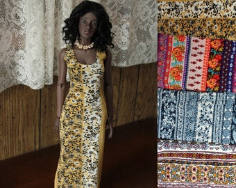 EID BJD Boho Prints Maxi Dress Floral Paisley