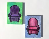 Pair of Chair Paintings -...