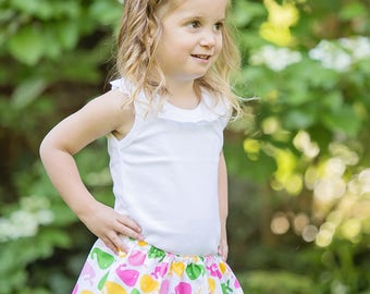 Boutique toddler girls  tween skirt Preppy Whale  2 Toddler - 12 Youth By K Bella Bambino