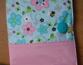 Travel Case - Travel Wallet Organizer - Korean Skin Care - Sheet Masks - Korean Beauty - Asian Beauty - Asian Skincare - Bumblebees Flowers