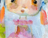 Pepper - mixed media art print by Mindy Lacefield
