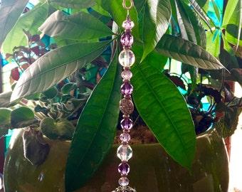Beautiful Asfour 40mm Crystal Ball Suncatcher w/Handmade Hanger/Swarovski Crystals, Unique Gifts, Housewarming Gifts, Rainbows