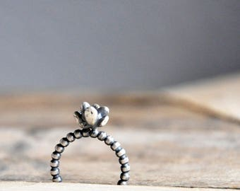 Teeny Succulent Ring / Modern Jewelry