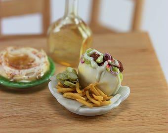 Falafel, Fries, Pickles - 1:12 Scale Dollhouse Miniature Food