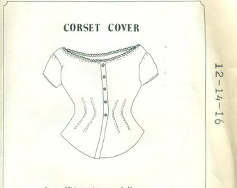 CORSET COVER Patterns for Period Impressions #501  Sizes 12 - 14 - 16 ©1986