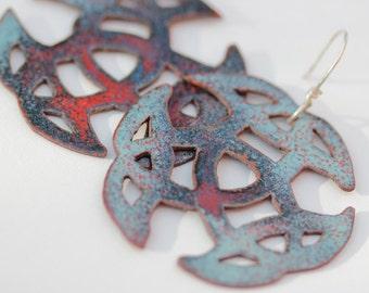 Celtic Trinity Knot Enamel Earrings