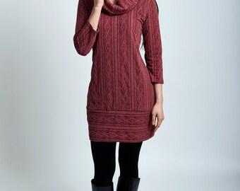 Lena sweater dress tunic with pockets