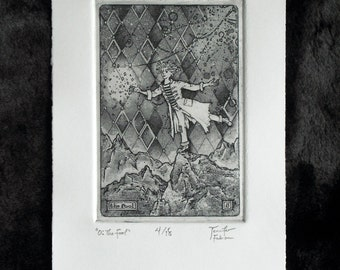 0: The Fool - limited edition fine art intaglio etching