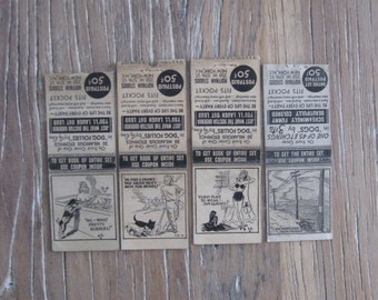 1939 Hoffman Studios NYC Matchbooks 3 Dog Follies by Hy Krn, 1 Dogs by Zito Etching Book Adverts