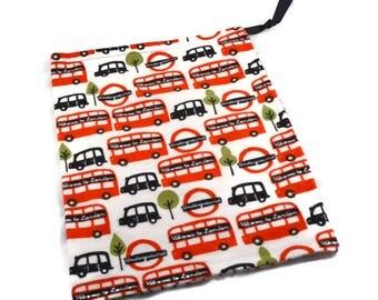 London Underground Bag, Drawstring Knitting Bag, Bus Bag