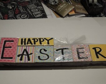 Hand lettered Set of Easter Blocks