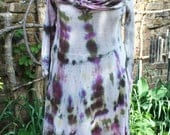 SALE was 22.00 Small jersey cotton or rayon tie dye hoodie short dress hippie small
