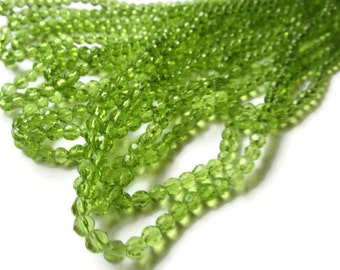 75 4mm Small Beads Light Green Beads Crystal Beads Full Strand Faceted Round Beads Accent Beads Spacer Beads Jewelry Making Ball Beads