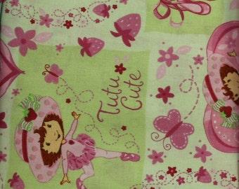 Strawberry Shortcake  Ballerina  100% cotton fabric by Spretrix