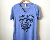 LOTR - Fellowship of the Ring Names - Literary Gifts - Book Lovers - Women's Relaxed V-neck Tee - Made to Order