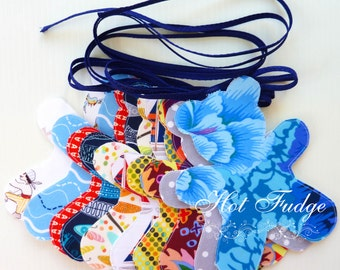Teddy Bear Garland, Baby Boy, double sided, blue ties