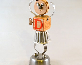 TINY DANCER, Assemblage Art Recycled Robot Sculpture, from the music-based Bot Beats