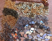Salvaged Chain Lot // Vintage Chains // 1960s 1970s // Jewelry Making Supplies // 1 lb Chain Destash Chains // DIY // Chain Lots