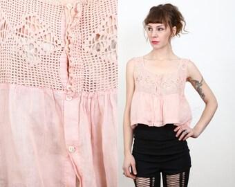 SALE Antique Pink Top . Edwardian Blouse