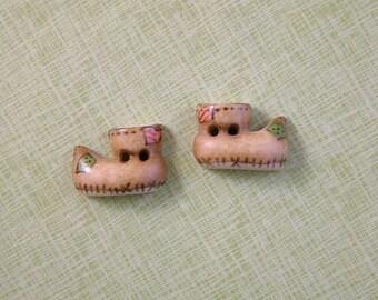 Elf Shoe Button set of 2