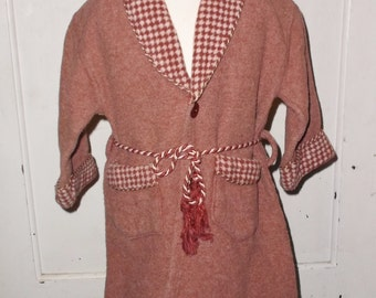1930s Vintage Boy's Beacon Blanket Robe Size 2
