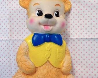 Hong Kong Kawaii Cute Rubber Edward Mobley Type Squeak Toy Baby Squeeze Bear
