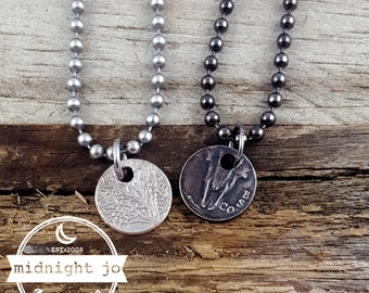State Coin Ring Add On Punch Out Necklace