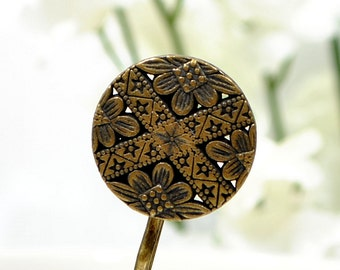 Celtic Bobby Pin Bronze Hair Pin Metal Bobbies Bronze Hair Clip