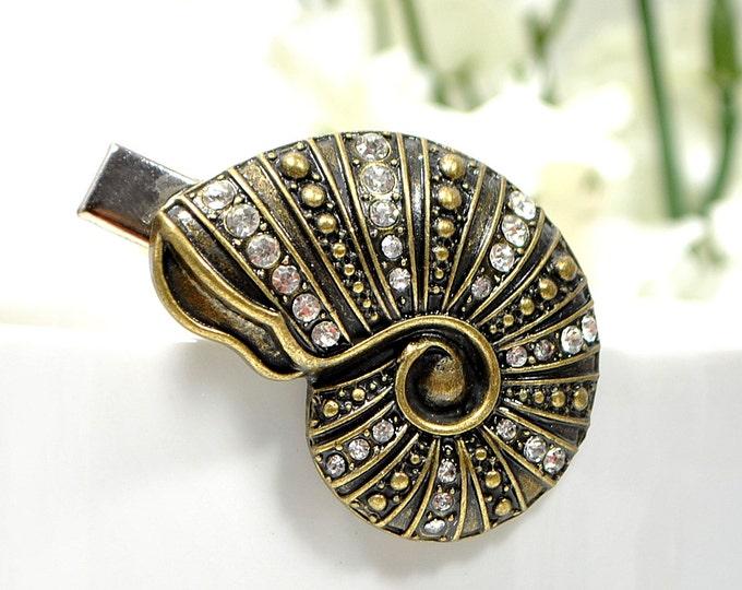 Snail Barrette Bronze Hair Clip Garden Hair Slide Sea Snail Hair Clip Hair Accessories