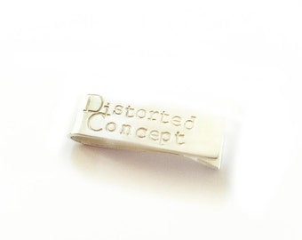 Your Instagram Username or Business Name - Sterling Silver - Skinny Tie Bar